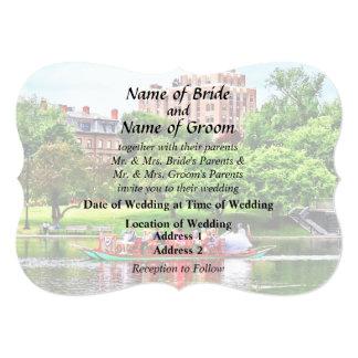 Boston MA - Boston Public Garden Wedding Supplies 13 Cm X 18 Cm Invitation Card