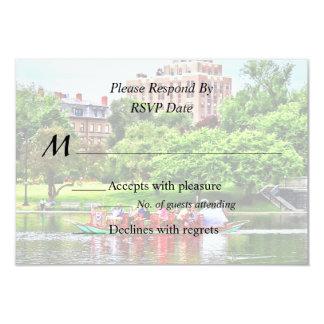 Boston MA - Boston Public Garden Wedding Supplies 9 Cm X 13 Cm Invitation Card