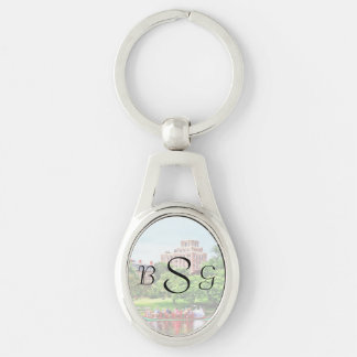 Boston MA - Boston Public Garden Wedding Supplies Silver-Colored Oval Key Ring