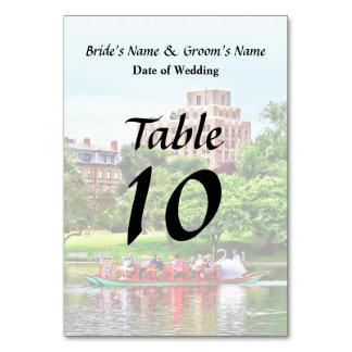 Boston MA - Boston Public Garden Wedding Supplies Table Card