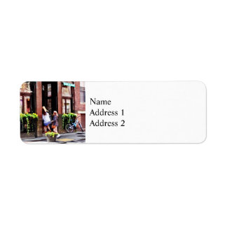 Boston MA - Cafe in Little Italy Return Address Label
