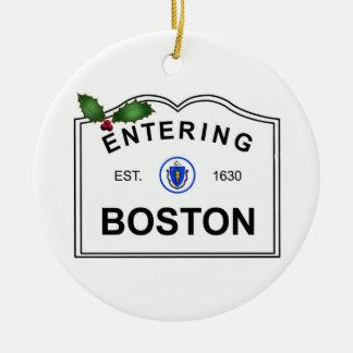 Boston MA Ceramic Ornament