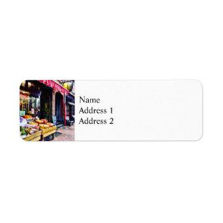 Boston MA - Fruit Stand Return Address Label