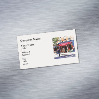 Boston MA - Hanover Street North End Magnetic Business Cards