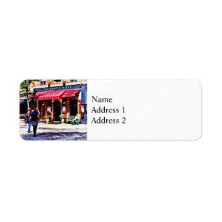 Boston MA - Hanover Street North End Return Address Label