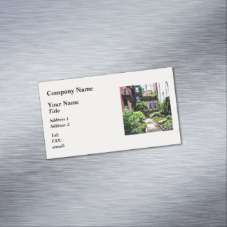 Boston MA - Hidden Garden Magnetic Business Card