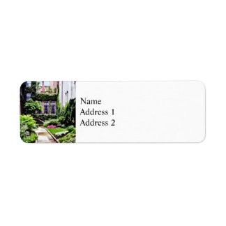 Boston MA - Hidden Garden Return Address Label