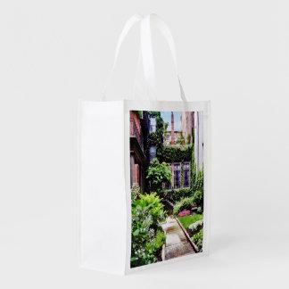 Boston MA - Hidden Garden Reusable Grocery Bag