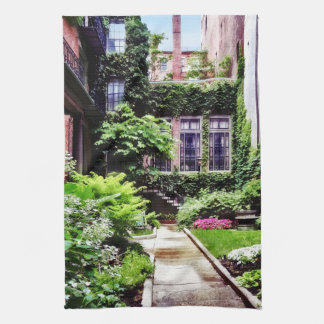 Boston MA - Hidden Garden Tea Towel