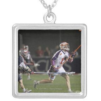 BOSTON, MA - JULY 23:  P.T. Ricci #1 Silver Plated Necklace