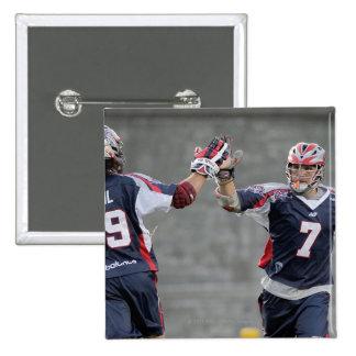 BOSTON, MA - JULY 23:  Paul Rabil #99 and Matt 15 Cm Square Badge