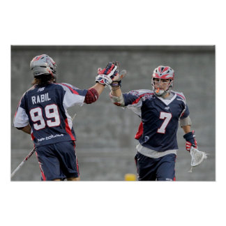 BOSTON, MA - JULY 23:  Paul Rabil #99 and Matt Poster