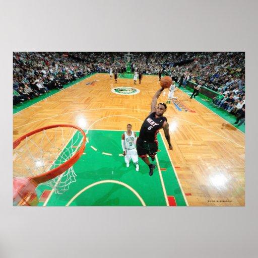 BOSTON, MA - MAY 9: LeBron James #6 of the Miami Print