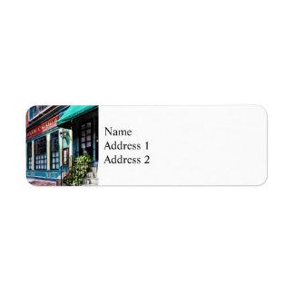 Boston Ma - North End Restaurant Return Address Label