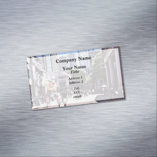 Boston MA - Quincy Market Magnetic Business Card