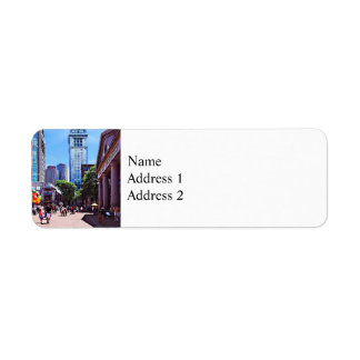 Boston MA - Quincy Market Return Address Label
