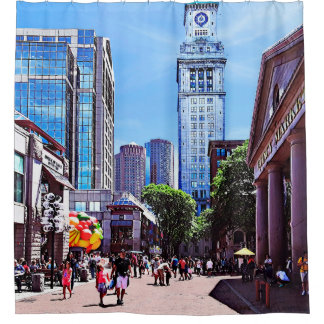 Boston MA - Quincy Market Shower Curtain