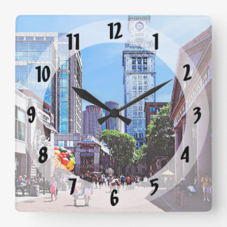 Boston MA - Quincy Market Square Wall Clock