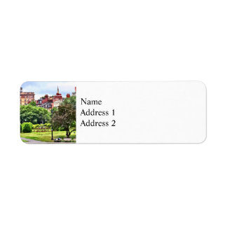 Boston MA - Relaxing In Boston Public Garden Return Address Label
