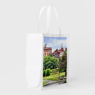 Boston MA - Relaxing In Boston Public Garden Reusable Grocery Bag
