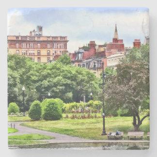 Boston MA - Relaxing In Boston Public Garden Stone Coaster