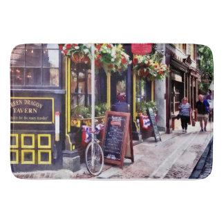 Boston MA - Restaurants on Creek Square Bath Mat