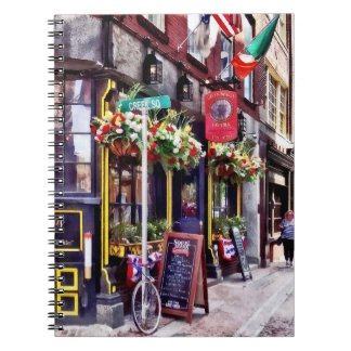 Boston MA - Restaurants on Creek Square Notebook