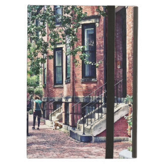 Boston MA - Walking the Dog on Mount Vernon Street iPad Air Covers