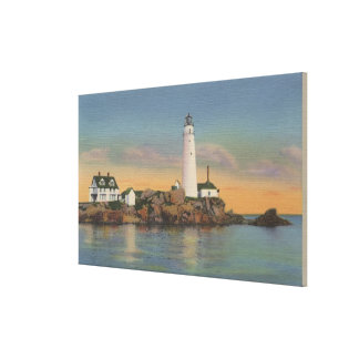 Boston, MABoston Lighthouse at Boston Harbor 2 Canvas Print
