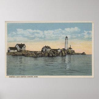Boston, MABoston Lighthouse at Boston Harbor Print