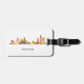 BOSTON MASS. SKYLINE WB1- LUGGAGE TAG