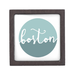 Boston, Massachusetts | Blue Ombre Circle Premium Jewelry Boxes