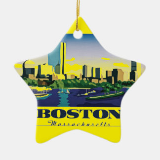 Boston, Massachusetts Ceramic Ornament