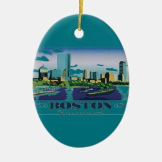 Boston, Massachusetts Ceramic Oval Decoration