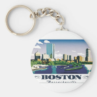 Boston, Massachusetts Key Ring