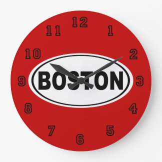 Boston Massachusetts Large Clock
