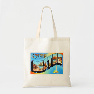 Boston Massachusetts MA Vintage Travel Souvenir Tote Bag