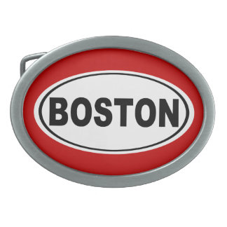 Boston Massachusetts Oval Belt Buckles