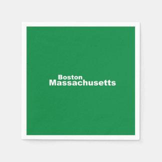 Boston, Massachusetts Paper Napkins