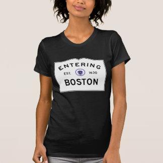 Boston Massachusetts Road Sign T-Shirt