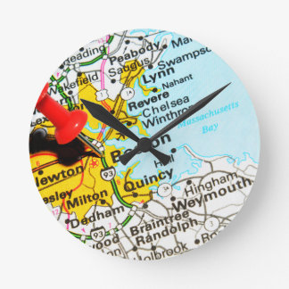 Boston, Massachusetts Round Clock