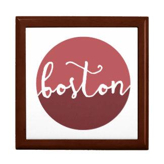 Boston, Massachusetts | Rust Ombre Circle Large Square Gift Box