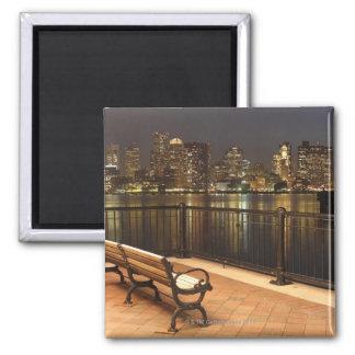 Boston, Massachusetts skyline 3 Square Magnet