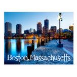 Boston Massachusetts Skyline at Sunset  Post Card