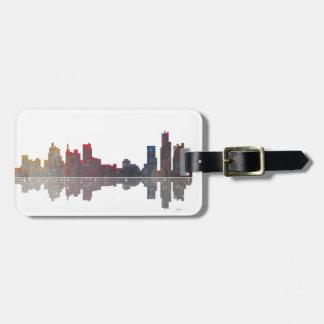 Boston Massachusetts Skyline Bag Tag