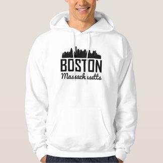Boston Massachusetts Skyline Hoodie