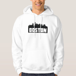 Boston Massachusetts Skyline Hoodie