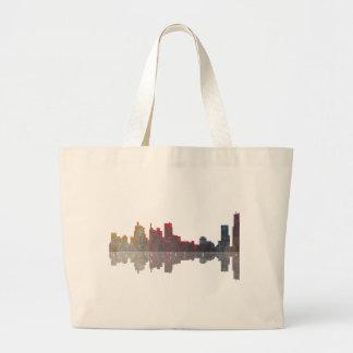 Boston Massachusetts Skyline Jumbo Tote Bag