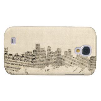 Boston Massachusetts Skyline Sheet Music Cityscape Samsung Galaxy S4 Case