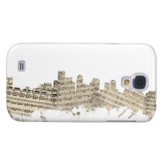 Boston Massachusetts Skyline Sheet Music Cityscape Samsung Galaxy S4 Cover